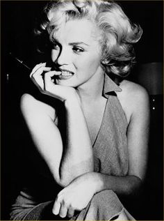 Marilyn Monroe must have mastered the art of posing as well as applying make-up.