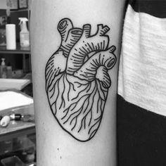 by malwina mosiejczuk. kobra tattoo poznan. #anatomic #heart #tattoo #black #linear #ink