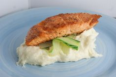 Salmon and garlic mashed potatoes!
