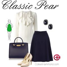 Classic Pear by colleen-hammond on Polyvore featuring RED Valentino, Rupert Sanderson, ZAC Zac Posen and Boohoo