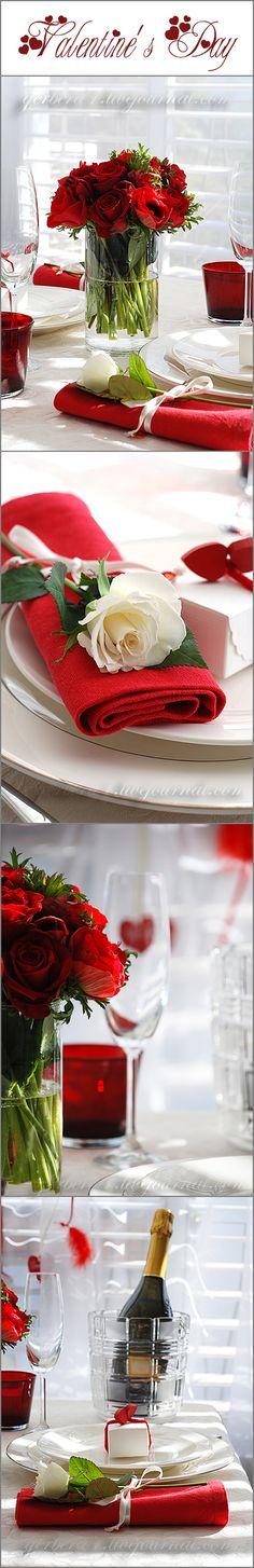 Valentine's Day table decoration ideas by Elena Korostelev