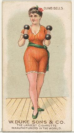 Dumb Bells, from the Gymnastic Exercises series (N77) for Duke brand cigarettes 1887