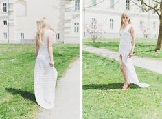 Daphne - gehäkeltes Brautkleid Austria, Wedding Dress, White Dress, How To Make, Collection, Dresses, Fashion, Amor, Bride Dressing Gown
