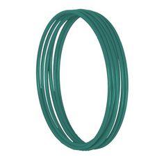 Conjunto 6 braceletes esmaltado azul