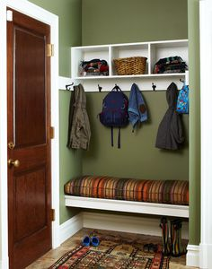 Mud Room. I like the bench off the floor.