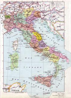 Cartina Muta Fisica E Politica Dellitalia Da Stampare Progetti