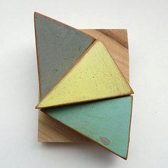 Triple wooden triangle brooch by bhmakes on Etsy, £48.00 (Bridget Harvey)