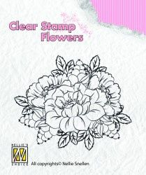 """Clear Stamp """"flowers"""" FLO012"""