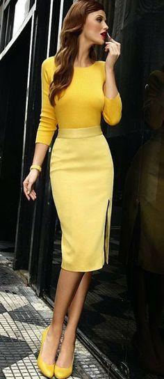 Yellow Elegance Workwear