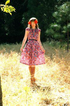 Vintage 1970s Boho Dress... Plus Size... 70s by AstralBoutique, $38.00