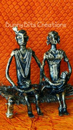 Hand made Clay Tribal Couple