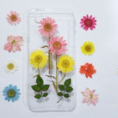 iPhone 5c case iPhone 6 Plus Case Clear Pressed by mugandcase