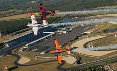 The world's most famous motorsports venue hosts the Red Bull Air Race for the first time ever