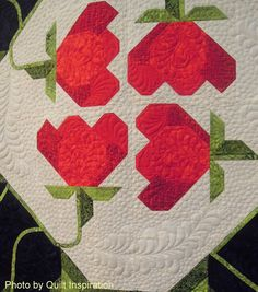 close up, Quilt of Remembrance by Pam Bono Designs, quilted by Mary Nordeng.  Photo by Quilt Inspiration