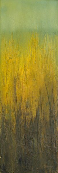Grass . Series of contemporary, abstract landscape paintings by Anne Stahl.