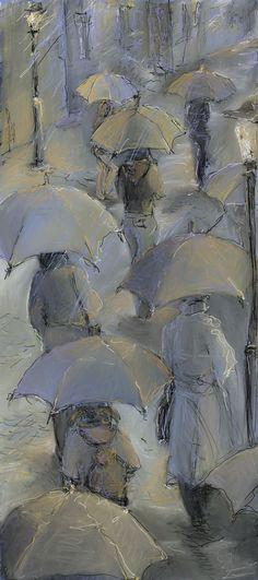 London, rain by Natalie Salbieva, via Behance