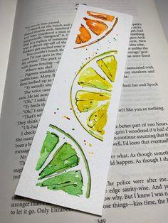 Creative Bookmarks, Diy Bookmarks, Watercolor Drawing, Watercolor Paintings, Watercolor Ideas, Watercolors, Art Mini Toile, Bookmark Craft, Watercolor Bookmarks