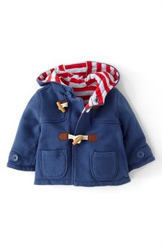 Mini Boden Cotton Jersey Duffle Jacket (Baby Boys) | Nordstrom