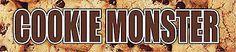 "Reminisce COOKIE MONSTER 2"" x 10"" TITLE STICKER scrapbooking"