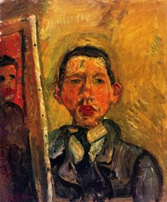 chaïm soutine(1894-1943), self-portrait, c.1918. circa 1918. oil on canvas, 54.6 x 45.7 cm. princeton university art museum - princeton, nj, usa http://www.the-athenaeum.org/art/detail.php?ID=56605
