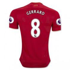 Liverpool 16-17 Steven Gerrard 8 Hemmatröja Kortärmad  #Fotbollströjor