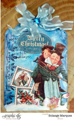 Christmas Tags by Solange Marques with Graphic 45 Christmas Carol- Photo 1