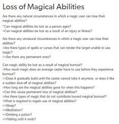 Magic abilities