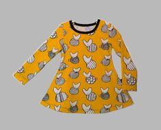 Tunic. Pattern Owl princess / Ottobre 1/2014. I just love this Ikasyr`s jersey!