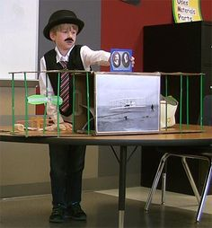 """""""Orville"""" presenting on Wright Brothers School Projects, Projects For Kids, Jackson School, American Day, Wright Brothers, Wax Museum, Third Grade, Social Studies, Costume Ideas"""