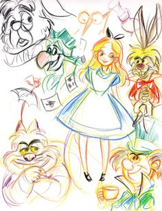 Obsessed with these Alice sketches. Dodo!
