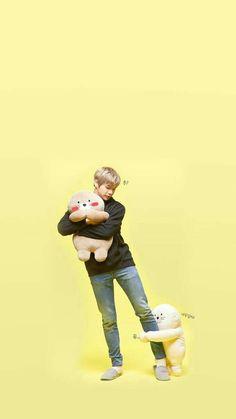 Don't be rude with that little cute Cat Daniel! Samoyed, Jinyoung, Baekhyun, Park Hyung, Daniel K, V And Jin, Lai Guanlin, Ha Sungwoon, Korean Star