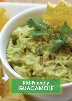 This Kid-Friendly Guacamole recipe leaves out some of the heat and chunky ingredients so the little ones will love it too!