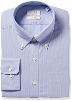 Geoffrey Beene Mens Slim Fit Easy Care Long Sleeve Button Down Shirt