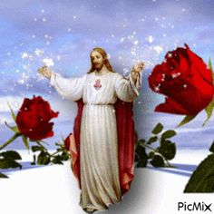 See the PicMix jesus belonging to on PicMix. Image Jesus, Jesus Christ Images, Religious Pictures, Jesus Pictures, Dove Pictures, Heart Of Jesus, Jesus Is Lord, Gif Bonito, Roses Gif