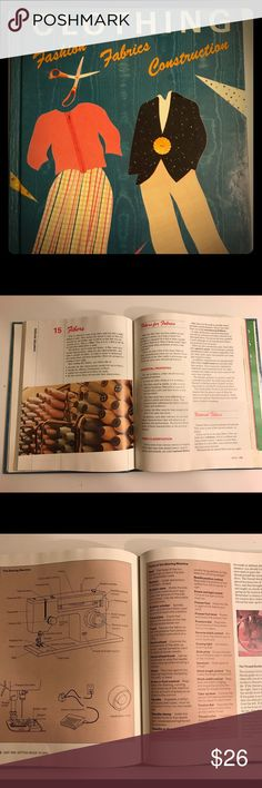 Vintage/Retro Fashion Fabric Construction Textbook Perfect for your younger fashionistas who want to learn about design and the basics of construction.  Easy to read layout with sections covering types and uses of fabric.  Takes a look into careers and environmental impacts of the textile industry.  Like New condition Other
