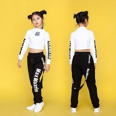 Children's Dance Wear Jazz Hip Hop Dance Clothing For Women Hipster Outfits, Cute Casual Outfits, Cute Girl Outfits, Sporty Outfits, Stylish Outfits, Kids Outfits, Girls Fashion Clothes, Teen Fashion Outfits, Kids Fashion