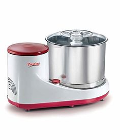 Prestige Mantra Heavy Duty WET Stone Electric Grinder For Dosa Dough Comes With Coconut Scraper Attachment And Atta Kneader Attachment * Click for Special Deals #SpecialtyAppliances