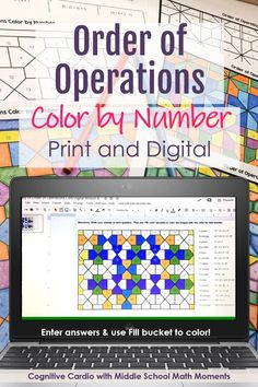 Flipped Classroom, Math Classroom, Classroom Ideas, Music Lessons For Kids, Math Lessons, Math Resources, Math Activities, Math Enrichment, Order Of Operations