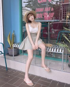 Perfect Summer outfits Ideas For Holiday Style Girl Fashion, Fashion Outfits, Womens Fashion, Korean Girl, Asian Girl, Uzzlang Girl, Holiday Fashion, Holiday Style, Asian Beauty