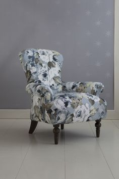 Edmund in Flora chair from Rodgers of York - How to style your home with florals. #interiors