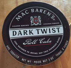 VINTAGE 1970-80s MAC BARENS DARK TWIST COLLECTIBLE TOBACCO TIN