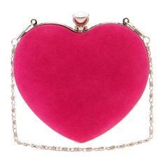 Rebecca Velvet Touch Heart Clutch
