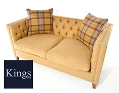 Tetrad Upholstery Battersea Large Sofa in Fabric or Leather from Kings Interiors who are the ideal place to buy Furniture and Flooring. Large Sofa, Maine House, Love Seat, Upholstery, Couch, King, Flooring, Interior, Fabric