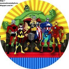Kit digital gratuito para imprimir Avengers! Os vingadores foi um tema muito pedido e faz muito sucesso entre a garotada, você que é ma...