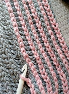 My latest obsession and a total blast for any crocheter! It's so simple, it feels like cheating. Surface crochet is a way to crochet (slip stitch) on top