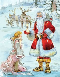 Narnia on Behance -- Lucy receiving her gift