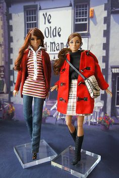 Burberry's fashion Darla | RockWan FR | Flickr Barbie Stuff, Barbie Clothes, Barbie Dolls, Black Barbie, Burberry Prorsum, Doll Repaint, Barbie And Ken, Collector Dolls, Antique Toys