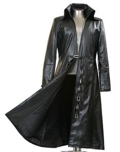 different kind of black trench coat