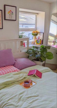 Room Design Bedroom, Room Ideas Bedroom, Bedroom Decor, Decor Room, Bedroom Inspo, Home Decor, Room Ideias, Indie Room, Pretty Room