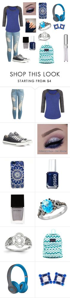 """""""Blue and Grey"""" by livyv123 ❤ liked on Polyvore featuring Frame, maurices, Converse, Essie, Witchery, LE VIAN, Kevin Jewelers, JanSport, Beats by Dr. Dre and Miss Julie"""